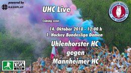 UHC Live – UHC vs. MHC – 14.10.2018 12:00 h