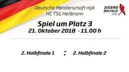 UHC Live – CHTC vs. BHC – Jugend DM – MJA Spiel um Platz 3 – 21.10.2018 11:00 h