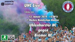 UHC Live – UHC vs. BreHC – 12.01.2019 13:00 h