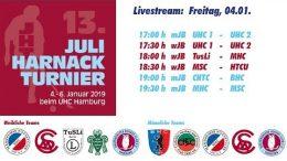 UHC Live – 13. Juli Harnack Turnier – wJB/mJB Freitag, 4. Januar 2019