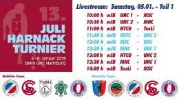 UHC Live – 13. Juli Harnack Turnier – wJB/mJB – Samstag, 5. Januar 2019 Teil 1