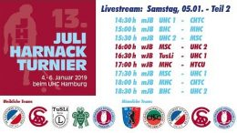 UHC Live – 13. Juli Harnack Turnier – wJB/mJB – Samstag, 5. Januar 2019 Teil 2