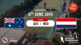 MHC TV – weibliche U16 – AUS vs. NED – 08.06.2019 13:00 h