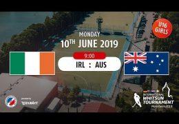 MHC TV – weibliche U16 – IRL vs. AUS – 10.06.2019 09:00 h