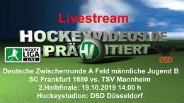 Hockeyvideos.de – Jugend DM ZR – SCF80 vs. TSVM – 19.10.2019 14:00 h