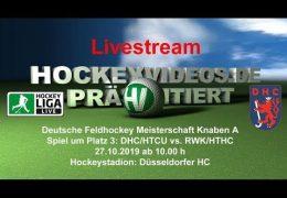 Hockeyvideos.de – Jugend DM – KA – Spiel um Platz 3 – DHC vs. RWK – 27.10.2019 10:00 h