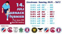UHC Live – 14. Juli Harnack Turnier – wJB/mJB – Samstag, 4. Januar 2020 Teil 2