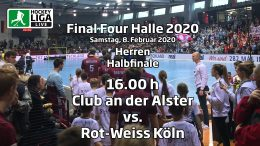 Final Four 2020 – 1. Halbfinale Herren – DCadA vs. RWK – 08.02.2020 16:00 h