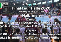 Final Four – Halbfinalspiele – Deutsche-Hallenhockey-Meisterschaft 2020 – 08.02.2020 ab 11:30 h