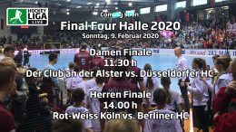 Final Four – Finalspiele – Deutsche-Hallenhockey-Meisterschaft 2020 – 09.02.2020 ab 11:30 h