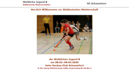 Sportdeutschland.TV – SDM wJB – 08.02.2020 09:45 h