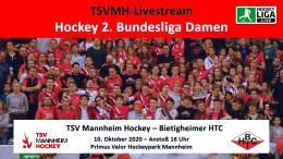 Sportdeutschland.tv – TSVMH vs. BTHC – 10.10.2020 16:00 h