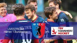 BHC Hockey Bundesliga – BHC vs. TSVM – 10.04.2021 13:00 h