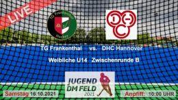 TGF TV – Jugend Zwischenrunde wU14 – TGF vs. DHCH – 16.10.2021 10:00 h