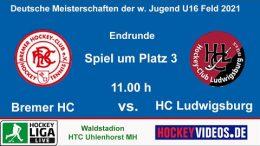 Hockeyvideos.de – Jugend DM wU16 – Spiel um Platz 3 – BreHC vs. HCL – 24.10.2021 11:00 h
